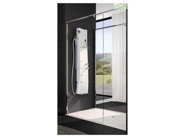 Colonne de douche mécanique ou thermostatique NOVELLINI DRESS 154 cm - Avec repose pieds - Avec repose pieds
