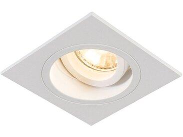 Spot Encastrable / Plafonnier carré blanc pivotant et inclinable - Chuck Qazqa Moderne Cage Lampe Luminaire interieur Carré