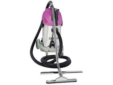Aspirateur eau et poussières inox à décolmatage spécial ramonage 1450 w 38 l