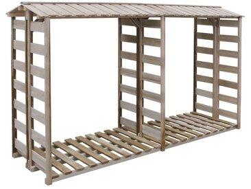 Abri de stockage du bois de chauffage 300x100x176cm Pin imprégné
