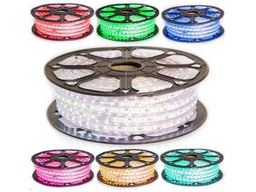 Kit Ruban LED Professionnel 5050 60 LED/m de 25 ou 50 mètres RGB étanche (IP68) avec contrôleur 220V | Longueur: 50 mètres
