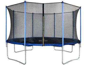 Trampoline avec filet de protection 366cm jouet enfant sport à domicile en plein air en sécurité soilde anti-corrosion