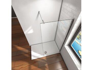 Paroi de douche 90x200cm en verre anticalcaire Walk in paroi de fixation avec barre de fixation extensible