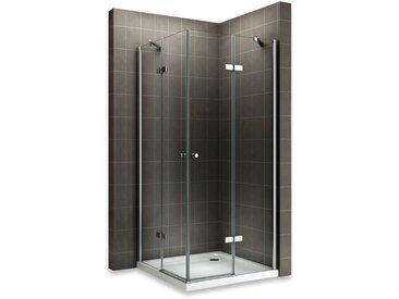 MAYA Cabine de douche H 180 cm en verre transparent 80x100 cm