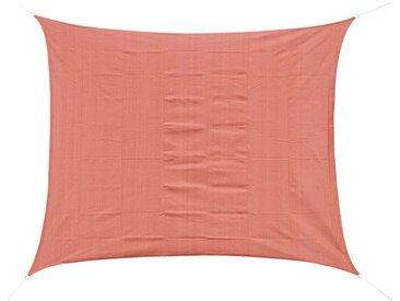 Voile d'ombrage rectangulaire 3 x 4 m polyéthylène haute densité résistant aux UV rouge