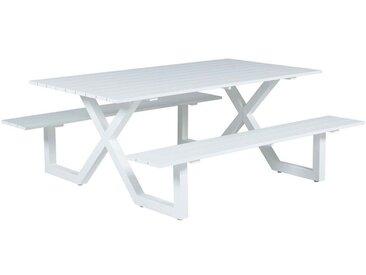 Table de pique-nique Napels - L180xW180xH71 - blanc mat - Garden Impressions