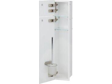 Niche pour WC à encastrer intérieur blanc | Charnières à gauche - Noire