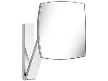 Keuco iLook_move Miroir grossissant, 17613, éclairé, 5 niveaux de luminosité réglables couleur, surface miroir : 200 x 200 mm, chromé - 17613019002