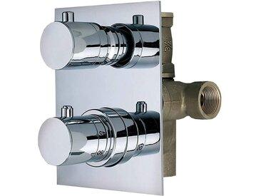 Mitigeur thermostatique ½ intégré avec inverseur Thermomat TMTI12D2ML   3 SORTIES