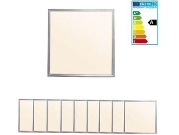 ECD Germany 9 x Panneau LED 36W - 60 x 60 cm - Ultra mince - SMD 3014 - Blanc chaud 3000K - 220-240 V - Environ 3020 lumens - Plafonnier encastré