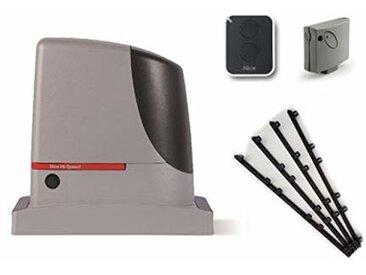 Kit d'automatisation NICE RUN 400 HS (RUN400HS + SMXI + ON2E ) jusqu'à 400 kg + 4m Cremaillere en nylon