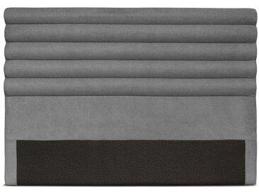 Tête de lit en tissu LUCA - Couleur - Gris, Largeur - 140 cm - Gris