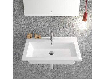 Ceramica Globo Forty3 - Lavabo suspendu 70x47 cm, en céramique blanc brillant (code FO070.BI)