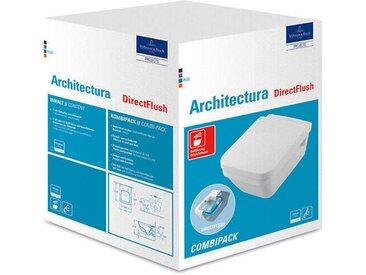 Villeroy & Boch Architectura Combi-Pack Wash-down WC 5685HR DirectFlush, avec siège WC, White Alpine, Coloris: Céramique blanche plus - 5685HRR1