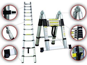 Escabeau, Échelle Multifonction, 3,8 mètre(s), Barre stabilisatrice, EN 131, Standards/Certifications: EN131