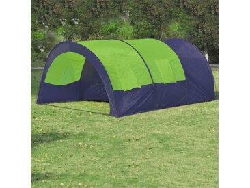 Hommoo Tente de camping 6 personnes Bleu et Vert