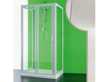 Cabine douche 3 côtés 80x150x80 CM en acrylique mod. Mercurio avec ouverture laterale