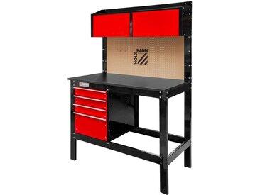 Etabli D'Atelier Banc Travail Avec Panneau Outils Et Tiroir Holzmann Wt39