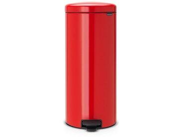 poubelle à pédale 30l rouge passion - 111808 - Brabantia