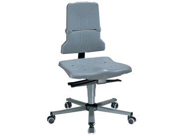 Chaise d'atelier pivotante Sintec B roulettes polypropylène gris 430-580 mm
