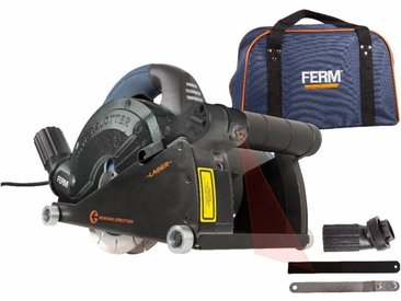 FERM WSM1008 Rainureuse 1600W 150mm, Laser - Incl. 2 Lames Diamant et Adaptateur D'aspirateur