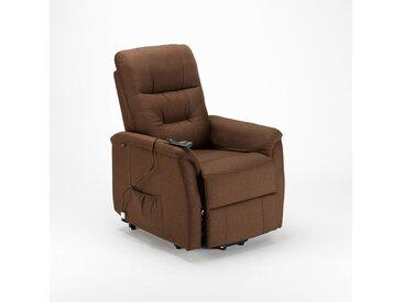 Fauteuil relaxation électrique inclinable avec lève-personne MARIE pour Senior | Couleur: Marron
