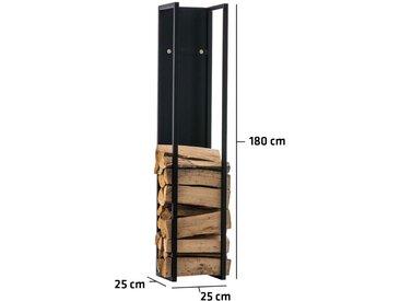 Porte-bûches Spark métal noir/mat 25x25x180 cm