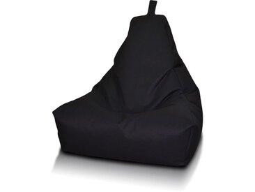 BEANBAG / POUF Keiho S - ECO-CUIR moderne | noir
