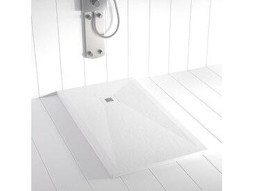 Receveur de douche Résine PLES Blanc (grille colorée) - 160x90 cm