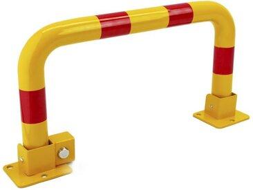 PrimeMatik - Barrière de parking stationnement pliable avec serrure 630 mm