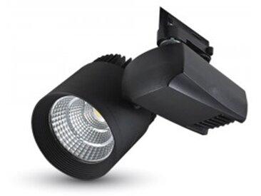 Spot LED sur rail COB 40W VT-4540T | Noir - Blanc du jour 5000K