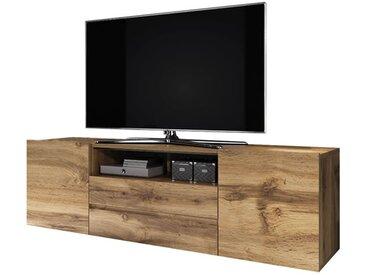 Selsey BROS - Meuble tv / Banc tv (chêne wotan, 137 cm)