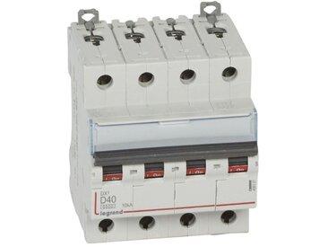 Disjoncteur DX6000 10kA arrivée haute et départ bas à vis 4P 400~ 40A courbe D pour peigne HX traditionnel (408121)