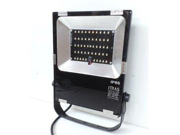 Projecteur LED 50W extérieur blanc chaud 3000K 3266lm 230V IP65 IK07 MONTREAL ITRAS 700805