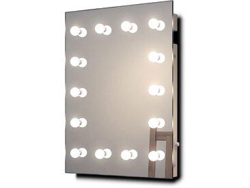 Miroir Maquillage Diamond X Mural Hollywood Audio avec LED Blanc Chaud k412WWaud - Couleur LED : Ampoules LED blanches chaudes