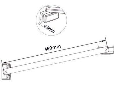 Paroi de douche 1000x700x8mm paroi de douche italienne verre anticalcaire différentes dimensions avec barre 450mm la pince 360¡ã