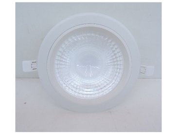 Plafonnier downlight LED 22W blanc architectural Ø 230mm 3000K non dimmable 230V IK08 IP44 THUNDER TRAJECTOIRE 003763