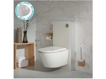 Pack wc avec cuvette lavante - Façade blanche -Wc japonais