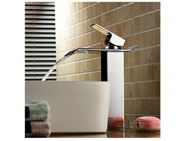 Robinet de lavabo mitigeur, finition chromée pour un style contemporain