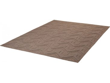Tapis scandinave avec effet 3D en laine Wicko Taupe 200x290