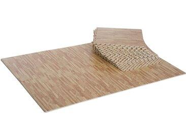Tapis en mousse de protection sol tapis de fitness 62 cm x 62 cm x 1,5 cm avec bordures tapis puzzle 25 pièces 9,3 m² de surface imitation parquet en bois