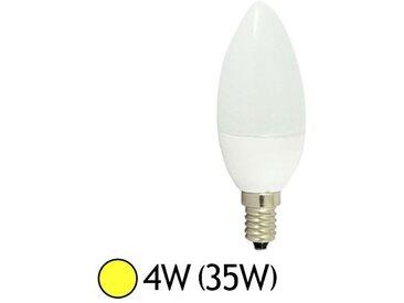 Ampoule Led 4W (35W) E14 Flamme opale - Blanc chaud