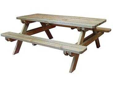 Table de pique-nique en bois traité 4/6 pers, Rambouillet