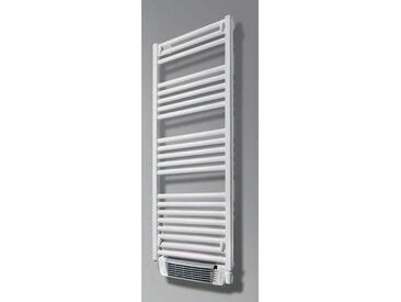 Radiateur sèche-serviettes OLA2 soufflant électrique - Puissance : 700 + 1000 W - H=1210 mm - L=550 mm - BLANC