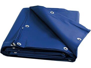 Bâche Brise Vue 680 g/m² - 6 x 8 m - Baches Bleue - Brise vent - pare vue - brise vue pvc