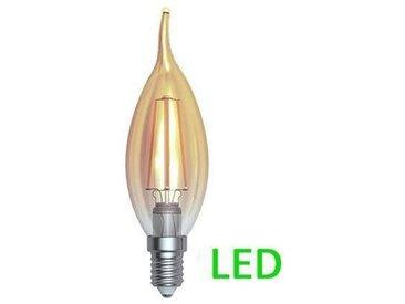 Ampoule Filament ambr�e LED E14 4 W coup de vent Blanc m�dium 420 lm