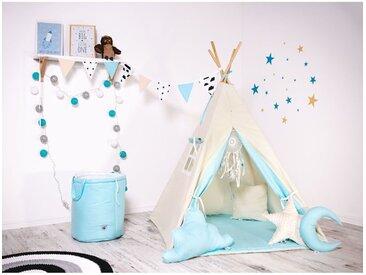 WILLY | Tipi Tente de jeu intérieur/extérieur pour les enfants | Hauteur 160cm | Tente cabane | 8 poteaux de pin naturel inclus | Beige