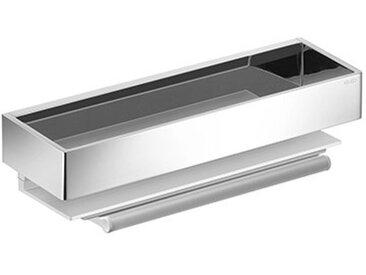 Edition 11 Panier de douche, 11159, avec extracteur en verre, argent anodisé et chromé, Coloris: Aluminium anodisé argent / chromé - 11159010000 - Keuco