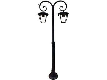 Lampadaire LED RGB, candélabre, aluminium, noir, H 141 cm, VT-738