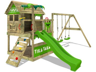 Aire de jeux FATMOOSE TikaTaka Town XXL avec Toboggan